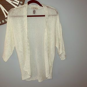 Free People cream cardigan size small